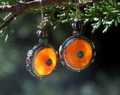 Fall Traveler -Handmade Amber Resin Earrings