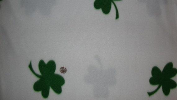 St Patricks Day Shamrock Fleece 2 Yards