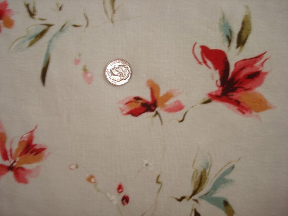 Pretty and delicate floral on off white 1 yd
