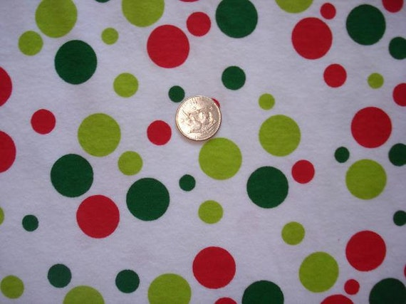 Special for ruthibabies Colorful red and green  Polka DOT Bubbles on  Cotton 3 yards