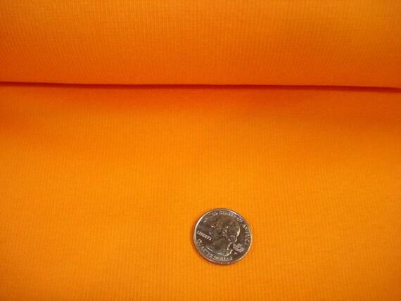 Orange  Cotton Lycra  Rib 1 YD