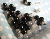 Mixed Lot Onyx and Natural Rutilated Quartz Beads Small Round 5 mm