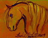 Scary Pony ACEO Original Painting LLMartin
