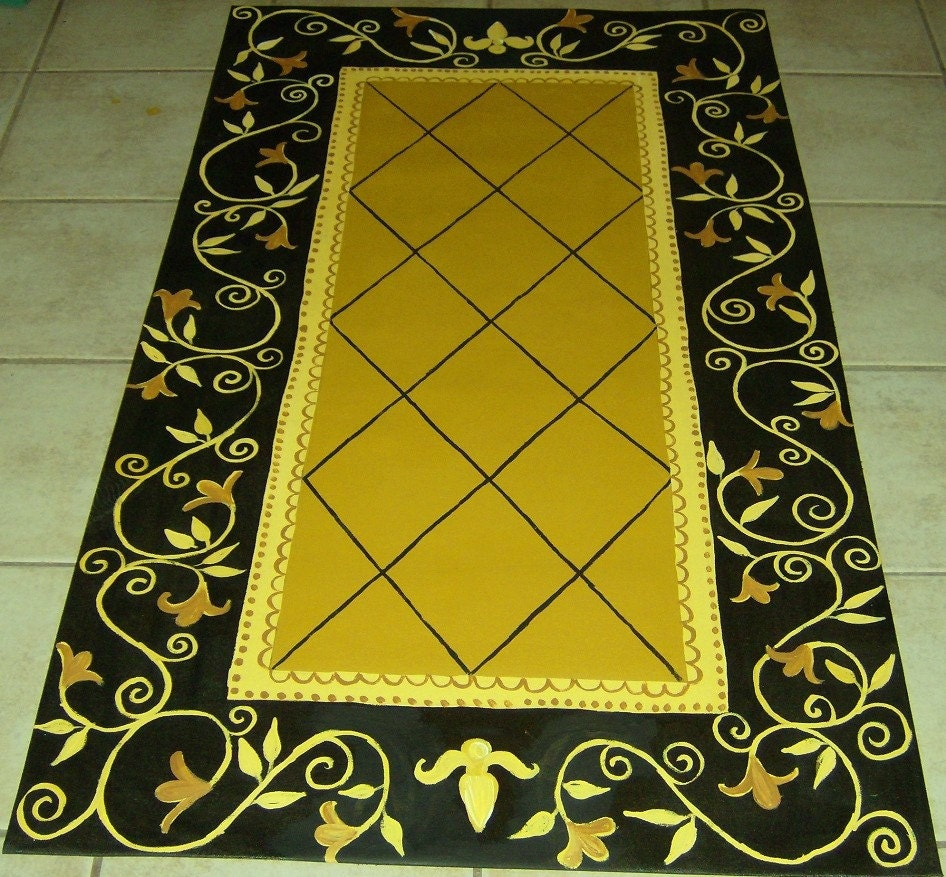 FLOORCLOTH Country Primitive Decor By Countryfloorcloths