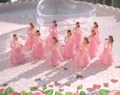 A Dozen Mini Princesses Pretty in Pink Cupcake Topper, Favor