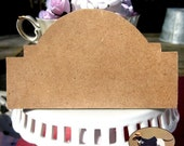 WOOD CUT OUT 5 inch sign or plaque Unfinished and ready to be altered