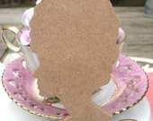MDF WOOD CUT out Paris Time Marie Antoinette Profile Unfinished and ready to be altered