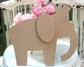 Queen or King 2 Piece Elephant MDF Wood CUT OUT Shape Unfinished and ready to be altered