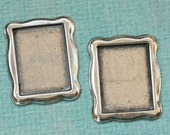 2 Small Silver Rectangle Frame 1846