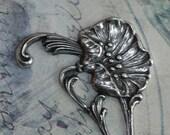 Silver Lotus Swirl Finding 1403