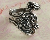 Floral Silver Spoon Ring Finding 2189