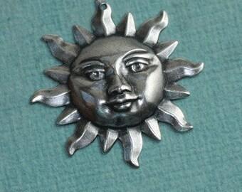 Silver Sun Charm 1422
