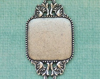 Large Silver Ornate Finding 1799