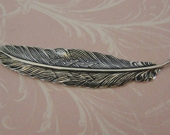 3 1/2 Inch Silver Feather Finding 536