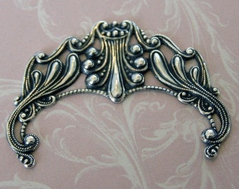Silver Filigree Finding 506
