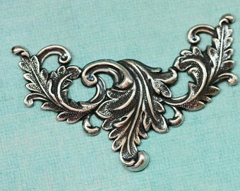 Silver Large Ornate Finding 1841