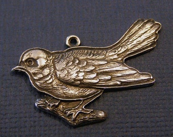 Silver Bird Charm 344