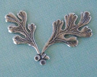 Silver Oak Leaf and Acorn Embellishment 772