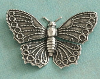 Large Silver Butterfly 2429