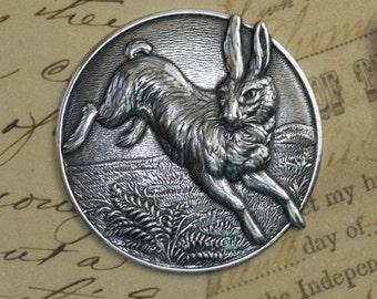 Silver  Rabbit Medallion 1423