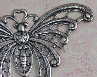 Large Silver Butterfly Finding 1185
