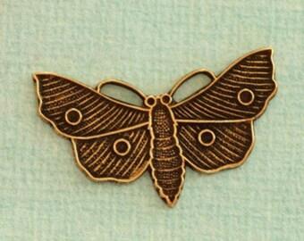 Brass Butterfly Charm 2445