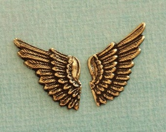 Small Brass Angel Wing Findings 2446