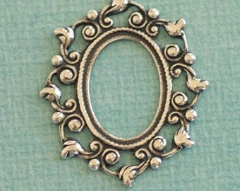 13mm x 18mm Silver Oval Cabachon Setting 2496