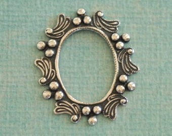 13mm x 18mm Silver Oval Cabachon Setting 2508