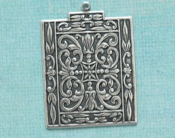 Silver Pendant Finding 2555