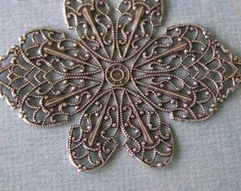 Silver Filigree Finding 650