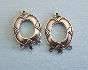 2 Silver Drop Charms 2874