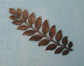 Large Brass Branch with Leaves 926