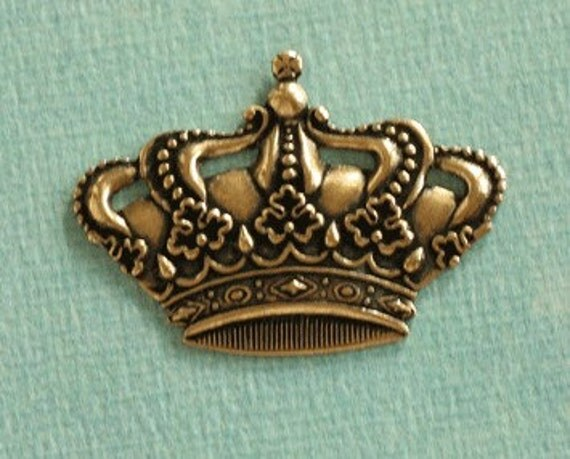 Brass Imperial Crown Embellishment 2272