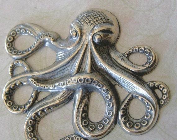 Silver Octopus Embellishment 194