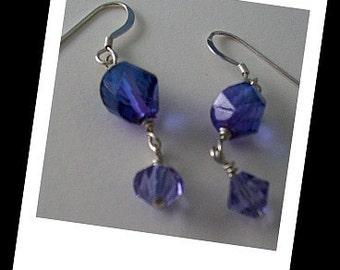 Purple Haze Crystal Earrings