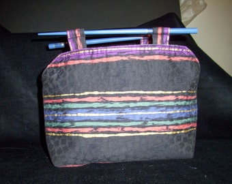 SALE - Upcycle-Recycle Vintage Placemat Chopstick Purse