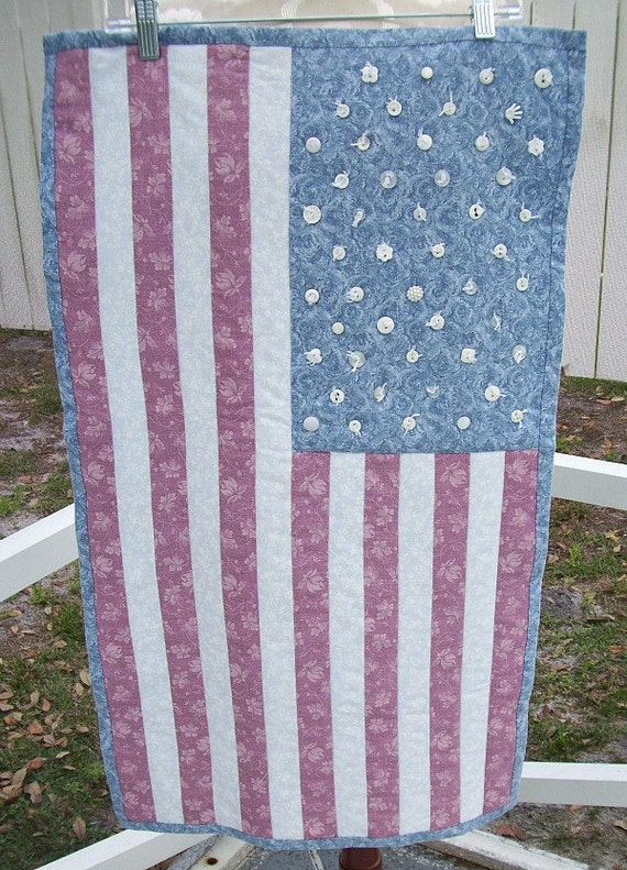 Quilted American Flag Wallhanging