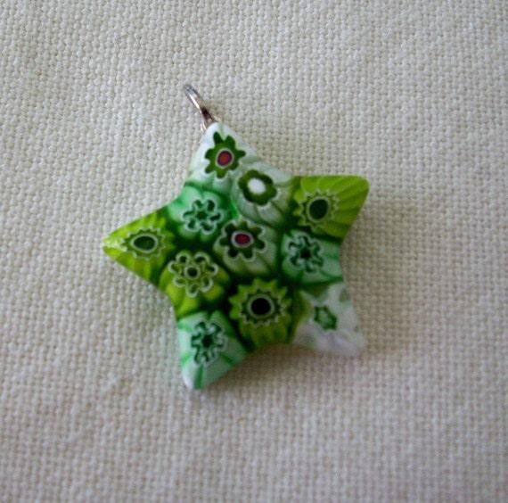 Millefiori  Glass Star Pendant