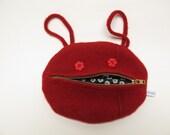 Happy zipper mouth purse