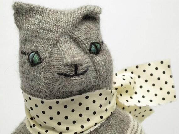 Senor Gato, hand knit cat doll