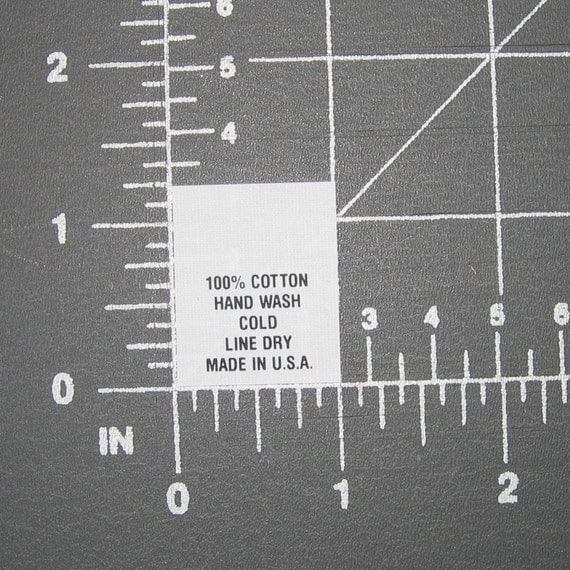 1000 Care Content - Hand Wash Line Dry USA Made - Clothing Garment Tags Labels