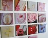 sweet on you - set of 15 tiny envelopes with cards (2 inches square)