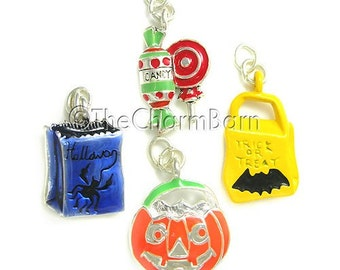 Trick or Treat Halloween Charms