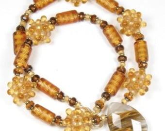 Honeyed Amber Panspora Necklace