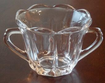 Vintage sugar bowl Clear Glass Sugar Bowi
