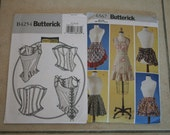 2 Butterick patterns : Corsets and Aprons