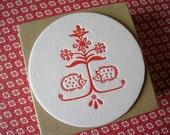 Letterpress Coaster Set - Hedgehogs