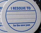 Letterpress Coaster Set - New Years Resolution (2 boxes)
