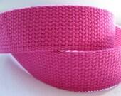 "Cotton Webbing 1 1/4"" Fuchsia For Key Fobs Handbags Belts"